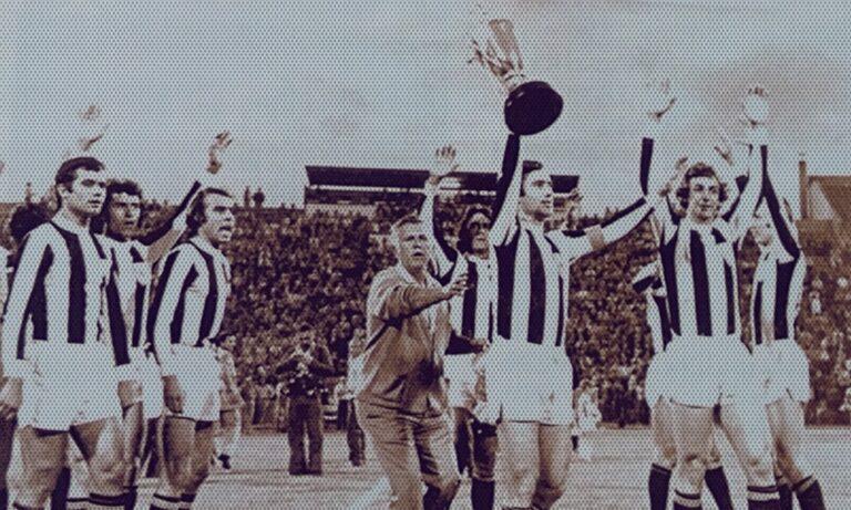 Ο ΠΑΟΚ σαν σήμερα πριν από 45 χρόνια κατέκτησε το πρώτο πρωτάθλημα της ιστορίας του.
