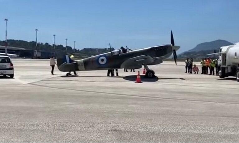 Πολεμική Αεροπορία: Το μαχητικό τύπου Spitfire, που έγραψε ιστορία, προσγειώθηκε στο Τατόι στο σχετικό μουσείο.
