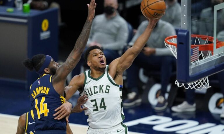 NBA: Ο Αντετοκούνμπο πήρε παραμάζωμα τους Πέισερς με 40άρα! (vid)
