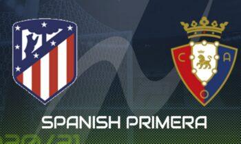 Ατλέτικο Μαδρίτης-Οσασούνα: Παρακολουθήστε LIVE από το Sportime την αναμέτρηση για την 37η αγωνιστική της Primera Division.