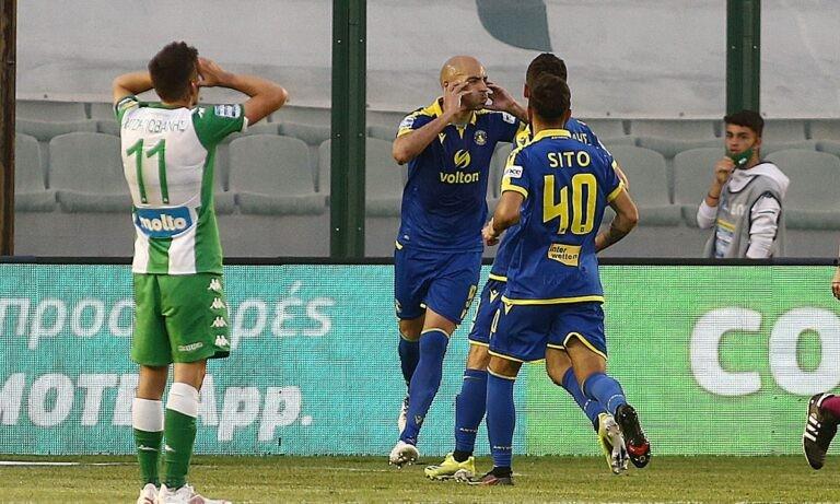 Με ιδιαίτερο τρόπο πανηγύρισε το δεύτερο γκολ που πέτυχε ο Αστέρας Τρίπολης κόντρα στον Παναθηναϊκό, στη Λεωφόρο ο Χερόνιμο Μπαράλες.