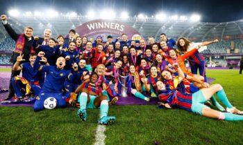 Σε έναν απίθανο θρίαμβο μετέτρεψε η Μπαρτσελόνα τον τελικό του Champions League γυναικών, που διεξήχθη στο Γκέτεμποργκ, επικρατώντας με 4-0