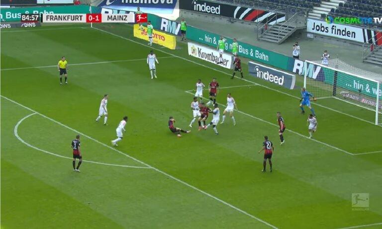 Αϊντραχτ – Μάιντς: Αδιανόητο γκολ! Πεσμένος έκανε λόμπα! (vid)