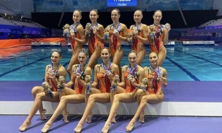Καλλιτεχνική κολύμβηση: Αργυρό μετάλλιο για την Ελλάδα στο Κόμπο (vid)