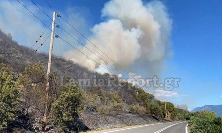 Φωτιά στη Μακρακώμη: Απειλούνται σπίτια - Έκλεισε η Εθνική Οδός