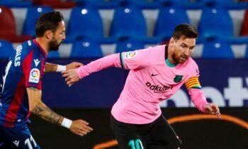Λεβάντε-Μπαρτσελόνα: Τρομερό ματς έγινε αργά το βράδυ της Τρίτης, με τις δύο ομάδες να μοιράζονται τελικά τον βαθμό της ισοπαλίας (3-3).