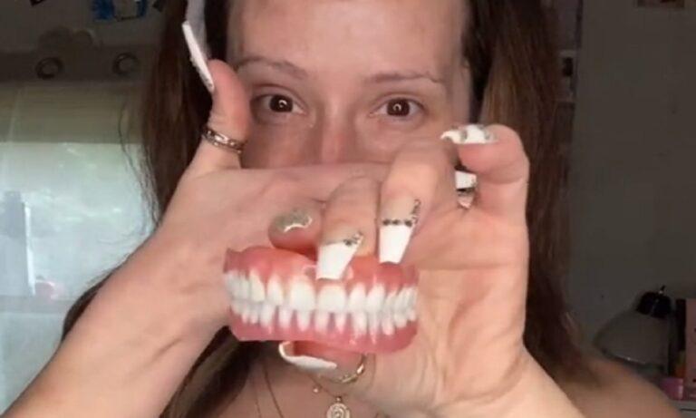 Aπίστευτο πως αλλάζει μία γυναίκα χωρίς δόντια όταν βάλει μασέλα και χρησιμοποιήσει το σωστό μέικ απ.