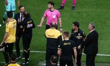 ΑΕΚ - Άρης: Ισόπαλο χωρίς τέρματα (0-0) έληξε το παιχνίδι του ΟΑΚΑ στο φινάλε των πλέι οφ, από το οποίο δεν έλειψε η ένταση στο φινάλε.