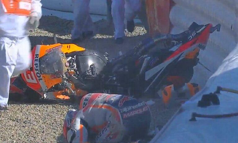 Moto GP: Ατύχημα ΣΟΚ για Μάρκεθ – Σώθηκε από θαύμα! (vid)