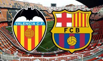 Με το Βαλένθια - Μπαρτσελόνα συνεχίζεται η αγωνιστική δράση στη La Liga και μέσω του Sportime.gr μπορείτε να ενημερώνεστε λεπτό προς λεπτό για την εξέλιξη της αναμέτρησης.