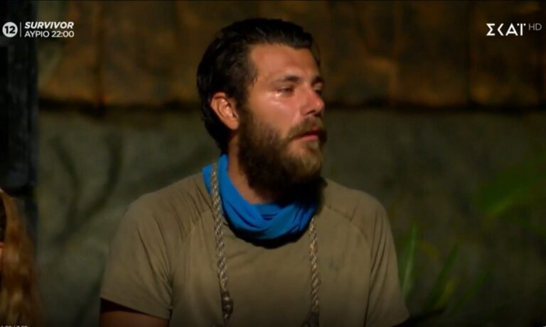 Survivor – Τζέημς Καφετζής: Ο Νίκος Μπάρτζης πλάνταξε στο κλάμα