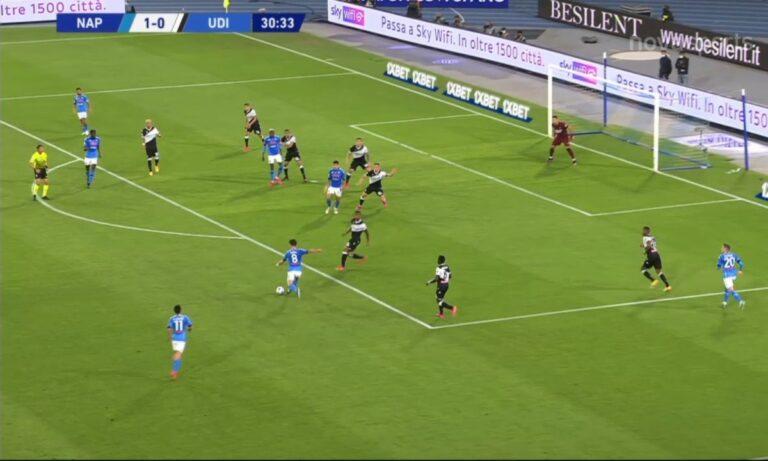 Νάπολι – Ουντινέζε 5-1: «Κλειδώνει» την έξοδο στο Champions League