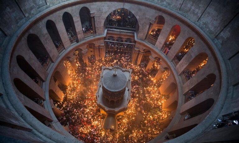 Άγιο Φως: Live η τελετή αφής από τον Πανάγιο Τάφο