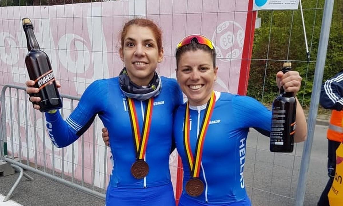 Ποδηλασία δρόμου: Δεύτερη θέση για την Ελ Λατίφ στη Φλάνδρα, χάλκινο μετάλλιο για το tandem των Σταμάτη/Μηλάκη
