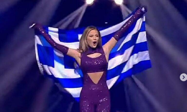 Περήφανη που είναι Ελληνίδα και που είχε την τιμή να κρατήσει την ελληνική σημαία στον διαγωνισμό της Eurovision δήλωσε ο Στεφανία Λυμπερκακάκη.