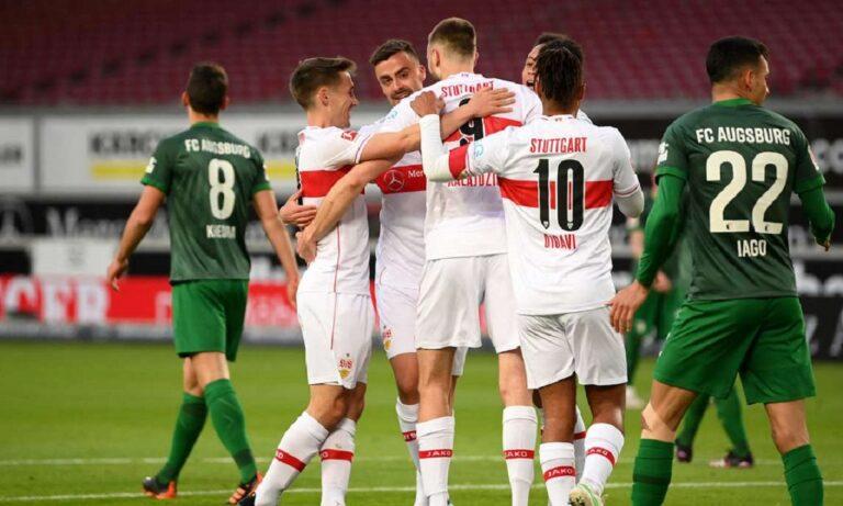Στουτγκάρδη – Άουγκσμπουργκ 2-1: Έχασε και… φλερτάρει με τον υποβιβασμό (vid)
