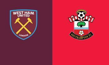 Γουέστ Χαμ-Σαουθάμπτον: Παρακολουθήστε LIVE από το Sportime την αναμέτρηση για την 38η αγωνιστική της Premier League.