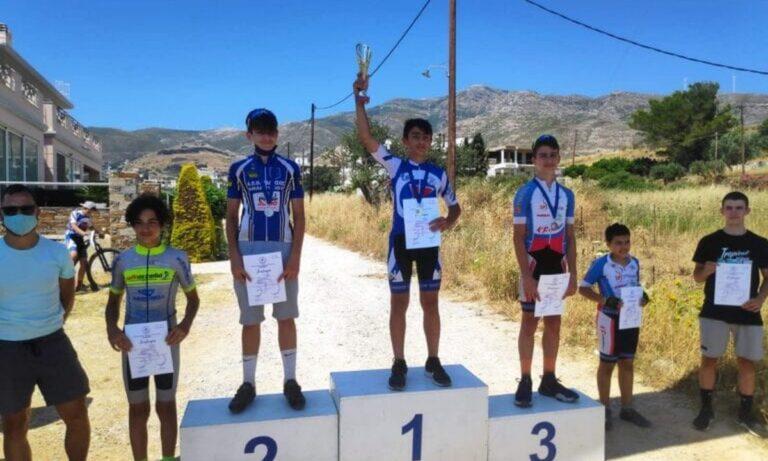Ορεινή Ποδηλασία: Έξι πρώτες θέσεις για τον ΣΥ. ΦΑ. Γέρακα στην Κάρυστο