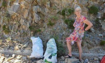 Τουρίστες μάζεψαν 20 κιλά σκουπίδια από μονοπάτι στον Ομαλό