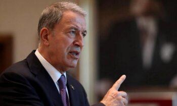 Ελληνοτουρκικά - Νέα πρόκληση Ακάρ: O υπουργός Άμυνας της Τουρκίας Χουλουσί Ακάρ κατηγόρησε σε δηλώσεις του την Ελλάδα.