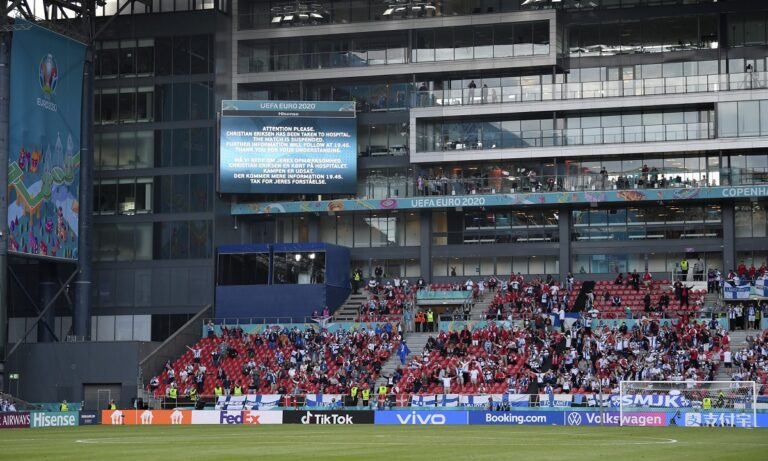 Euro 2020: Ανατριχίλα! Δανοί και Φινλανδοί φώναζαν μαζί το όνομα του Έρικσεν (vid)