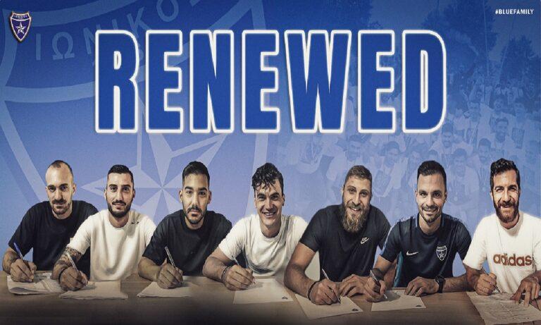 Ιωνικός: Ανακοίνωσε επτά ανανεώσεις παικτών