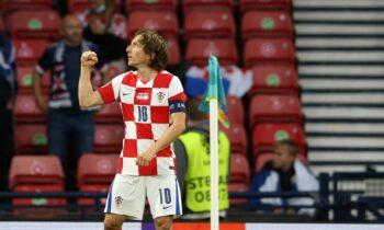 Euro 2020 Κροατία - Σκωτία: Με τον Λούκα Μόντριτς να πετυχαίνει ένα τρομερό γκολ, η εθνική Κροατίας νίκησε 3-1.