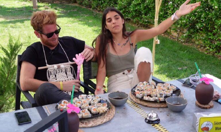 Survivor: Ο James Καφετζής σε ολοκαίνουργια δοκιμασία… σούσι με την Αννα Μαρία Βέλλη AmiYiami (vid)
