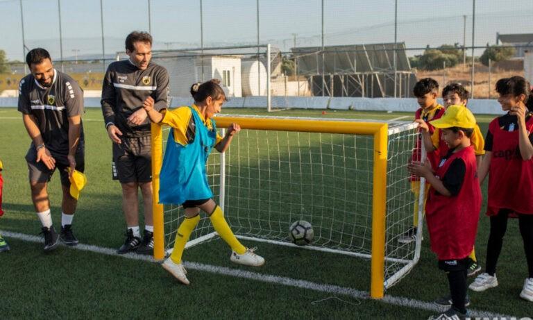 ΑΕΚ: Τιμητική διάκριση από την Υπατη Αρμοστεία του ΟΗΕ για το πρόγραμμα «Welcome Through Football»