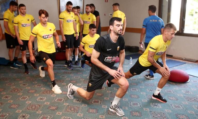 ΑΕΚ: Δουλειά σήμερα στο γυμναστήριο οι ποδοσφαιριστές (vid)