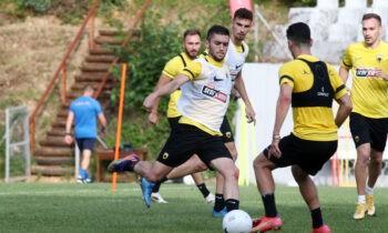 Η ΑΕΚ συνεχίζει την προετοιμασία της στην Πορταριά, με τον Βλάνταν Μιλόγεβιτς να έχει πλέον περισσότερες επιλογές.