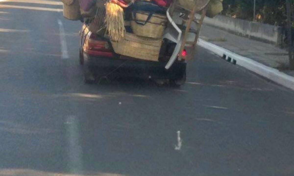 Οδηγός στα Χανιά φόρτωσε στο αυτοκίνητο ο, τι είχε και δεν είχε! (pic)