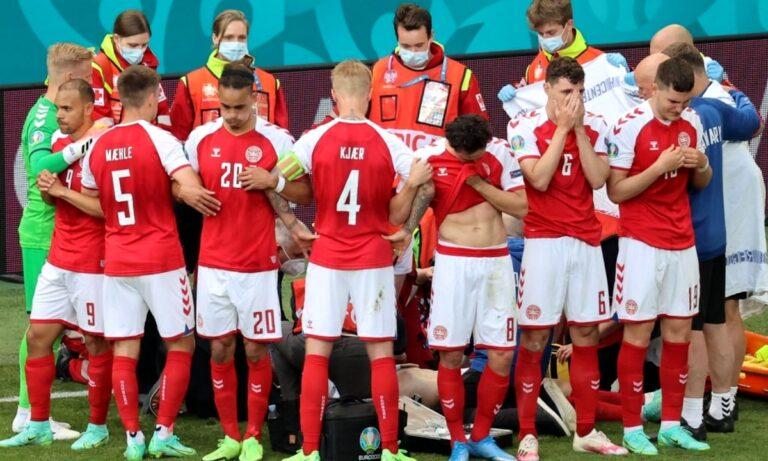 Euro 2020: Ο Έρικσεν έπεσε, μόλις έπεσε – Από χθες, όλα τα παιδιά θα ήθελαν να είναι ο Κιάερ κι ο Σμάιχελ!