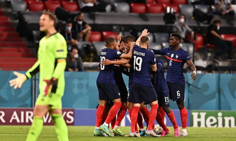 Euro 2020 Γαλλία – Γερμανία: Το αυτογκόλ του Ματς Χούμελς στο 20ό λεπτό χάρισε στους παγκόσμιους πρωταθλητές τη νίκη με 1-0.