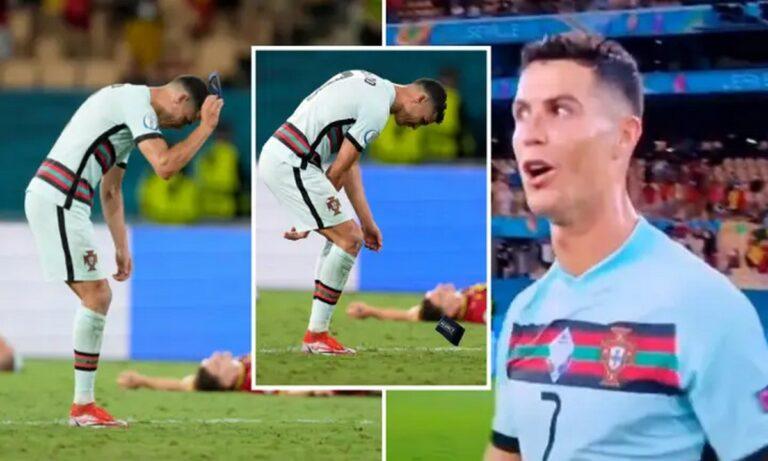 Euro 2020: Έξαλλος ο Κριστιάνο Ρονάλντο – Πέταξε και κλώτσησε το περιβραχιόνιο  (vid)
