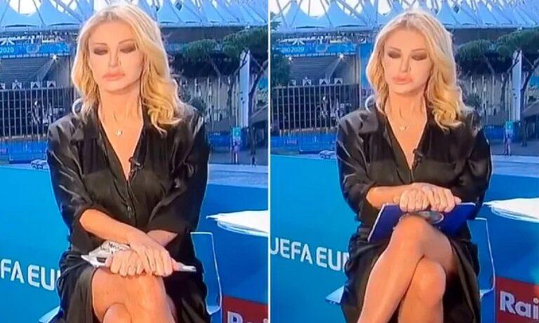 Ιταλίδα παρουσιάστρια έκανε σταυροπόδι αλα-Σάρον Στόουν