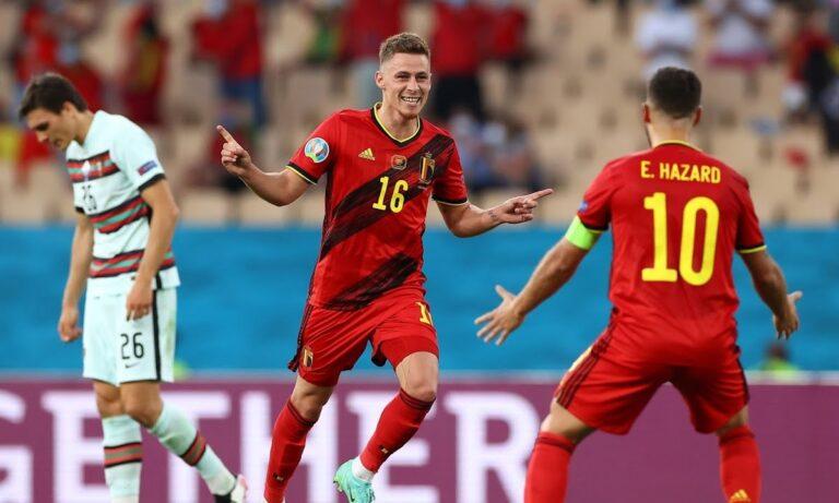 Euro 2020 – Βέλγιο – Πορτογαλία: Η «οβίδα» του Αζάρ για το 1-0 (vid)