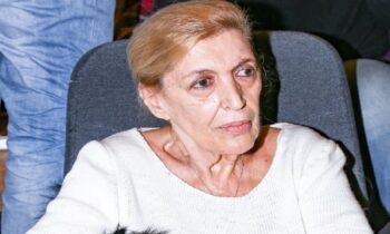 Στα 82 η Ντένη Μαρκορά δεν ζει πια στην Αθήνα