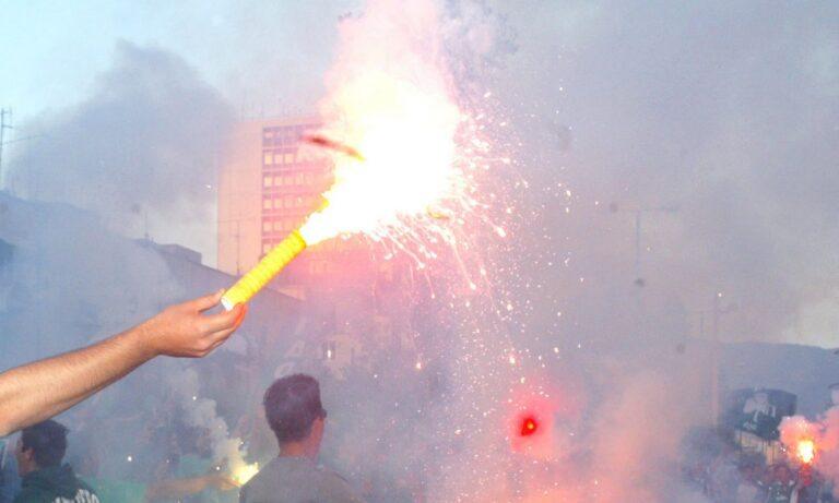 Παναθηναϊκός: Οπαδοί έκλεισαν τη Λεωφόρο Αλεξάνδρας για τα «50 χρόνια Γουέμπλεϊ» (vid)