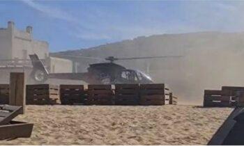 Με το στόμα ανοικτό έμειναν πριν από λίγα 24ωρα λουόμενοι στην παραλία Πάνορμος στη Μύκονο όταν είδαν ελικόπτερο να προσγειώνεται στην άμμο!