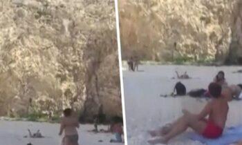 Ναυάγιο της Ζακύνθου: Σοκ προκαλεί το video από την πτώση της τουρίστριας