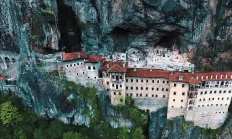 Η ιστορική ελληνική ορθόδοξη Μονή της Παναγίας Σουμελά, στην Τραπεζούντα του Πόντου, ανοίγει ξανά τις πόρτες της.