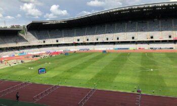 Η 2η ημέρα της 1ης κατηγορίας του Ευρωπαϊκού Πρωταθλήματος Ομάδων ξεκίνησε στο Στάδιο Αρένα του Κλουζ με τη συμμετοχή της Εθνικής Ομάδας.