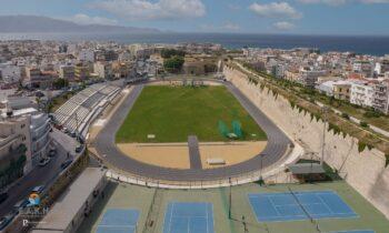 Τον περασμένο Σεπτέμβριο ξεκίνησε η ανακατασκευή του σταδίου «Ελευθερίας» στο Ηράκλειο Κρήτης και ολοκληρώθηκε τον Οκτώβριο.