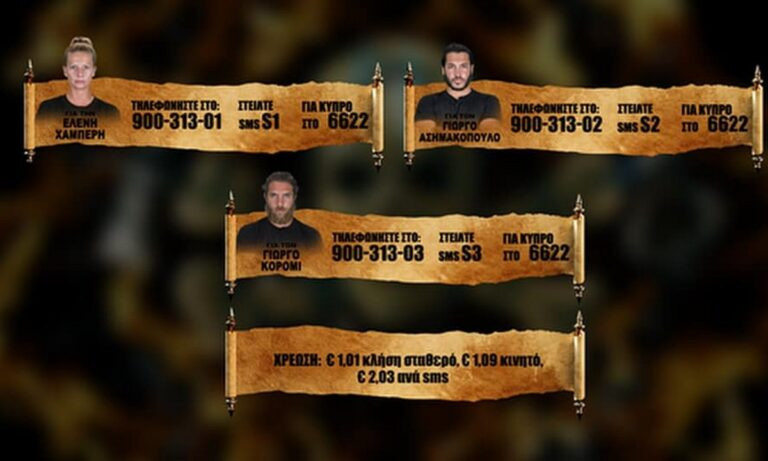 Survivor προτεινόμενοι spoiler 20/6: Το Sportime σας δίνει την ευκαιρία να ψηφίσετε ανάμεσα στους τρεις παίκτες για το ποιος θέλετε να