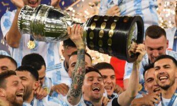 Αργεντινή Copa America: H Εθνική Αργεντινής κατέκτησε το τρόπαιο και ο Λιονέλ Μέσι΄... ξέσπασε μετά το τέλος της αναμέτρησης.