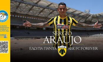 Η ΑΕΚ ανακοίνωσε και επίσημα την επιστροφή στην ομάδα του Σέρχιο Αραούχο που ενισχύει την επιθετική της γραμμή.