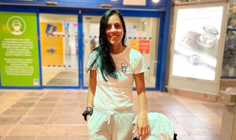 Η Ελισάβετ Πεσιρίδου αναχώρησε την Κυριακή από την Αθήνα με προορισμό το Τόκιο, για τη δεύτερη συμμετοχή της στους Ολυμπιακούς Αγώνες.