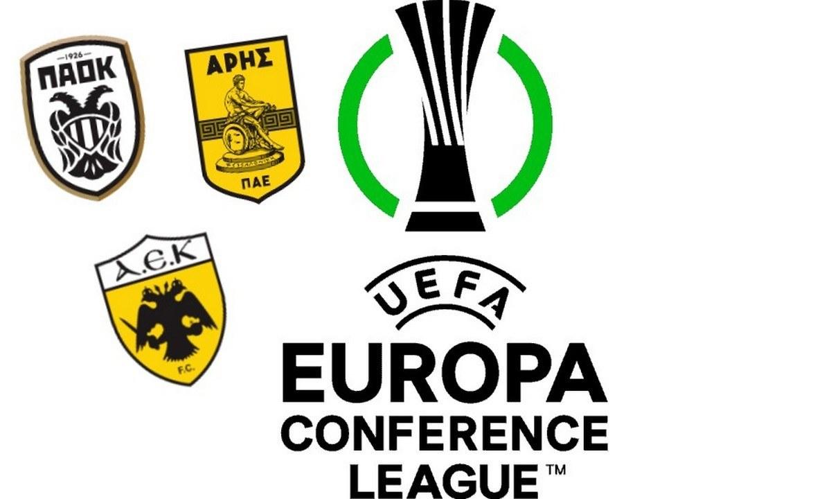 Live Streaming η κλήρωση των Ελληνικών ομάδων για το Europa Conference League!