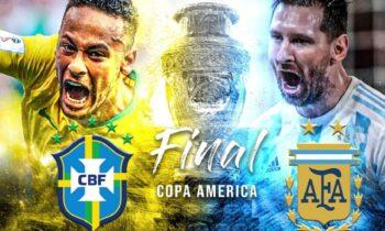 Αργεντινή - Βραζιλία: Και τώρα οι δυο τους! «Αλμπισελέστε» και «Σελεσάο» θα διεκδικήσουν το τρόπαιο του Copa America στην απόλυτη ποδοσφαιρική μάχη.